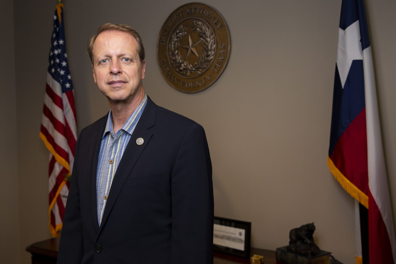 Collin County DA Greg Willis poses for a photo in his office on Wednesday, June 23, 2021, at the Collin County Courthouse in McKinney.