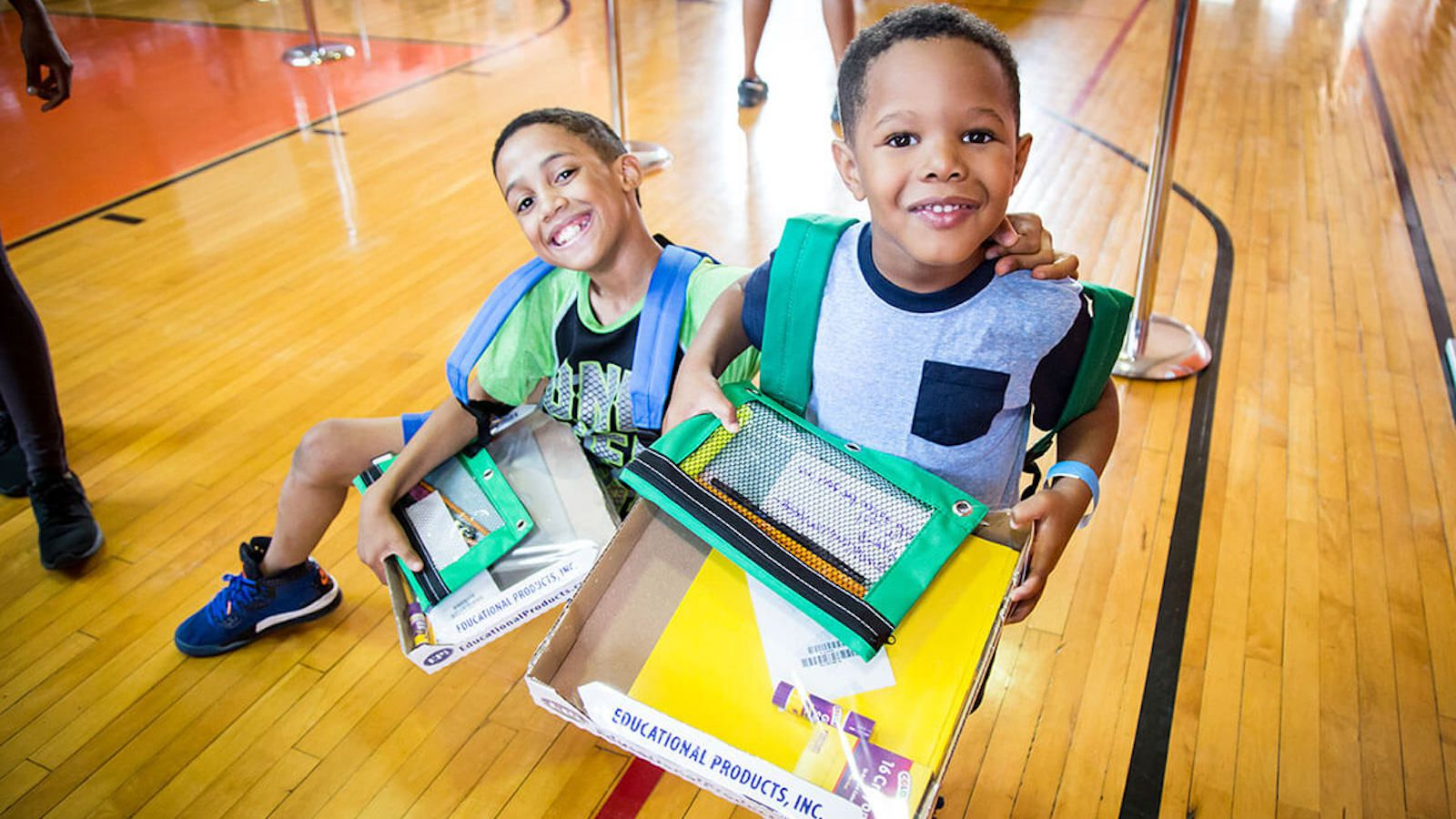 School supplies and uniforms help kids start the school year with confidence.