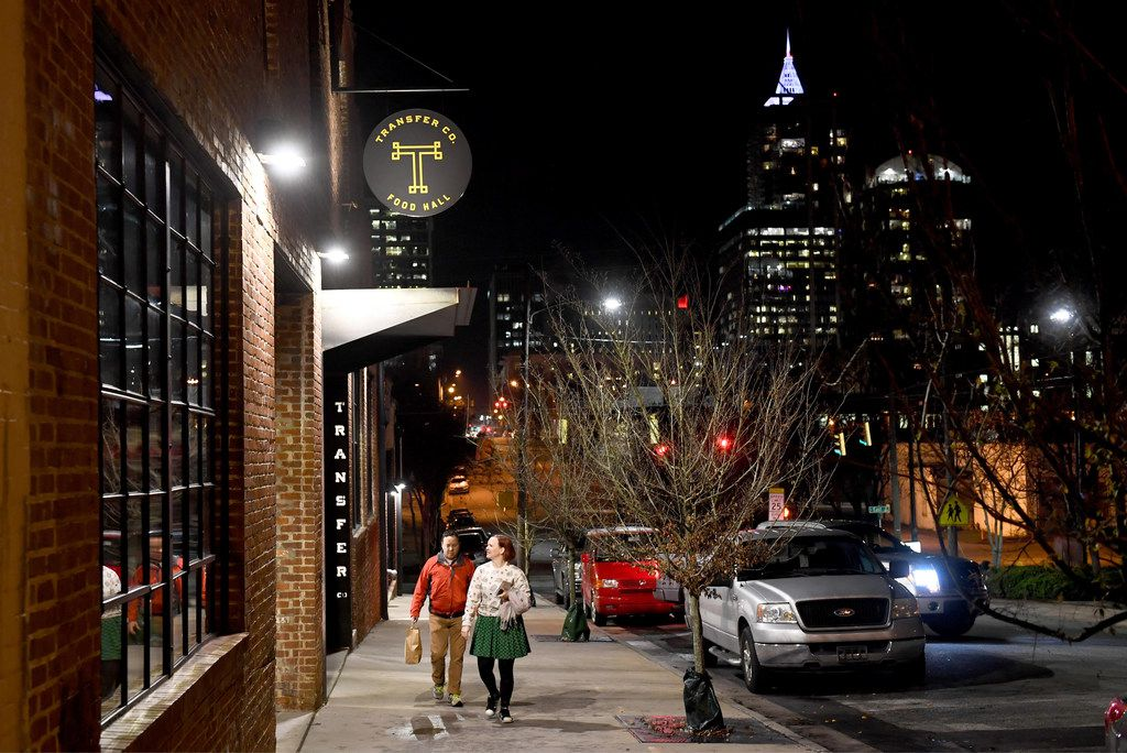 Transfer Co. Food Hall is in the oft-overlooked east side of downtown Raleigh, N.C.