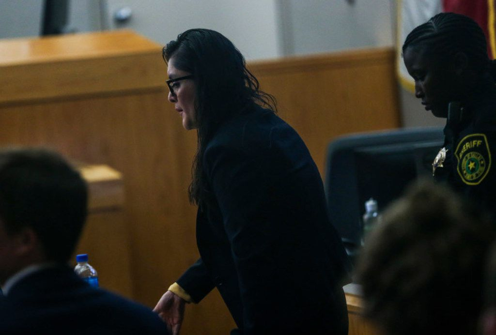 Brenda Delgado enters the courtroom during her murder trial in the 363rd Judicial District Court at the Frank Crowley Courthouse in Dallas, Tuesday, June 4, 2019. Delgado is accused of hiring Crystal Cortes and Kristopher Love to kill Kendra Hatcher, an Uptown dentist. (Ryan Michalesko/The Dallas Morning News)