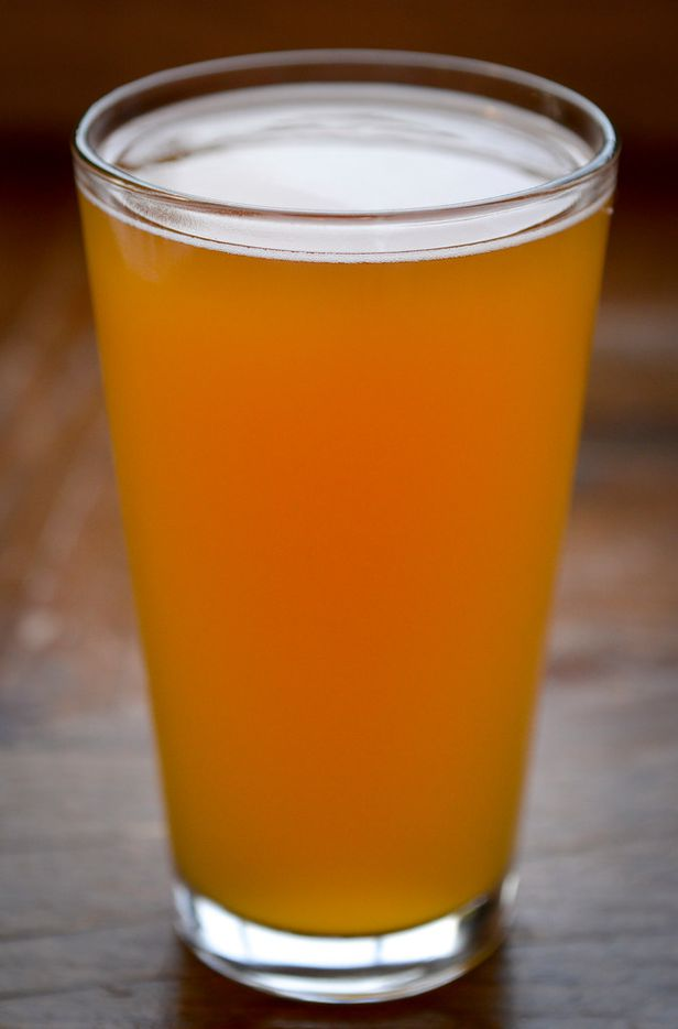 Grey Eagle Hefeweizen is one of several house brews from Fort Brewery and Pizza.