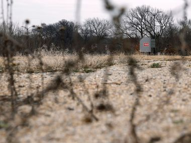 One of the areas in which a coyote was seen, at the northeast intersection of Preston Road and Eldorado Parkway in Frisco, Texas on Tuesday, January 15, 2019. (Vernon Bryant/The Dallas Morning News)