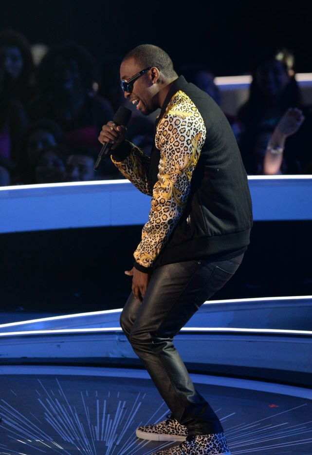 Comedian Jay Pharoah performs on stage at the MTV Video Music Awards on Sunday, August 24, 2014 at The Forum in Inglewood, California.