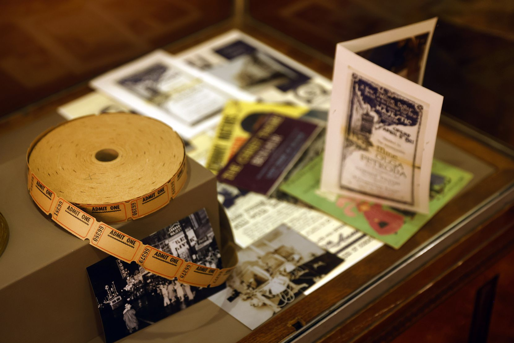 A small collection of historical items from the Majestic Theatre's past were on display Thursday.