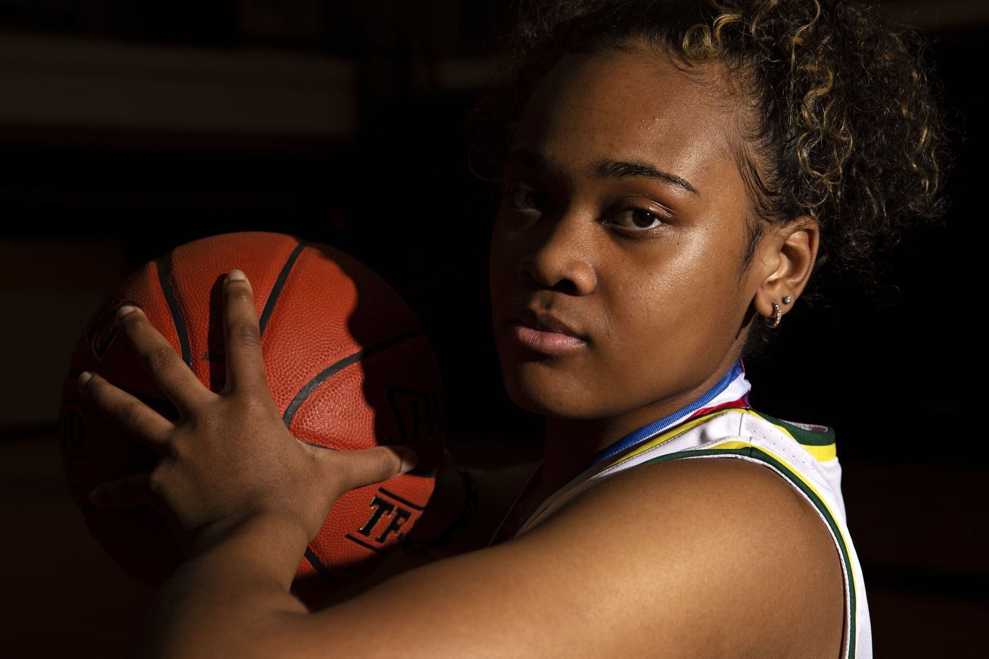 Kendall Brown is a senior guard for the DeSoto High School girls basketball team. Brown signed with Houston and helped lead DeSoto to its first girls basketball state title in school history. (Shelby Tauber/Special Contributor)