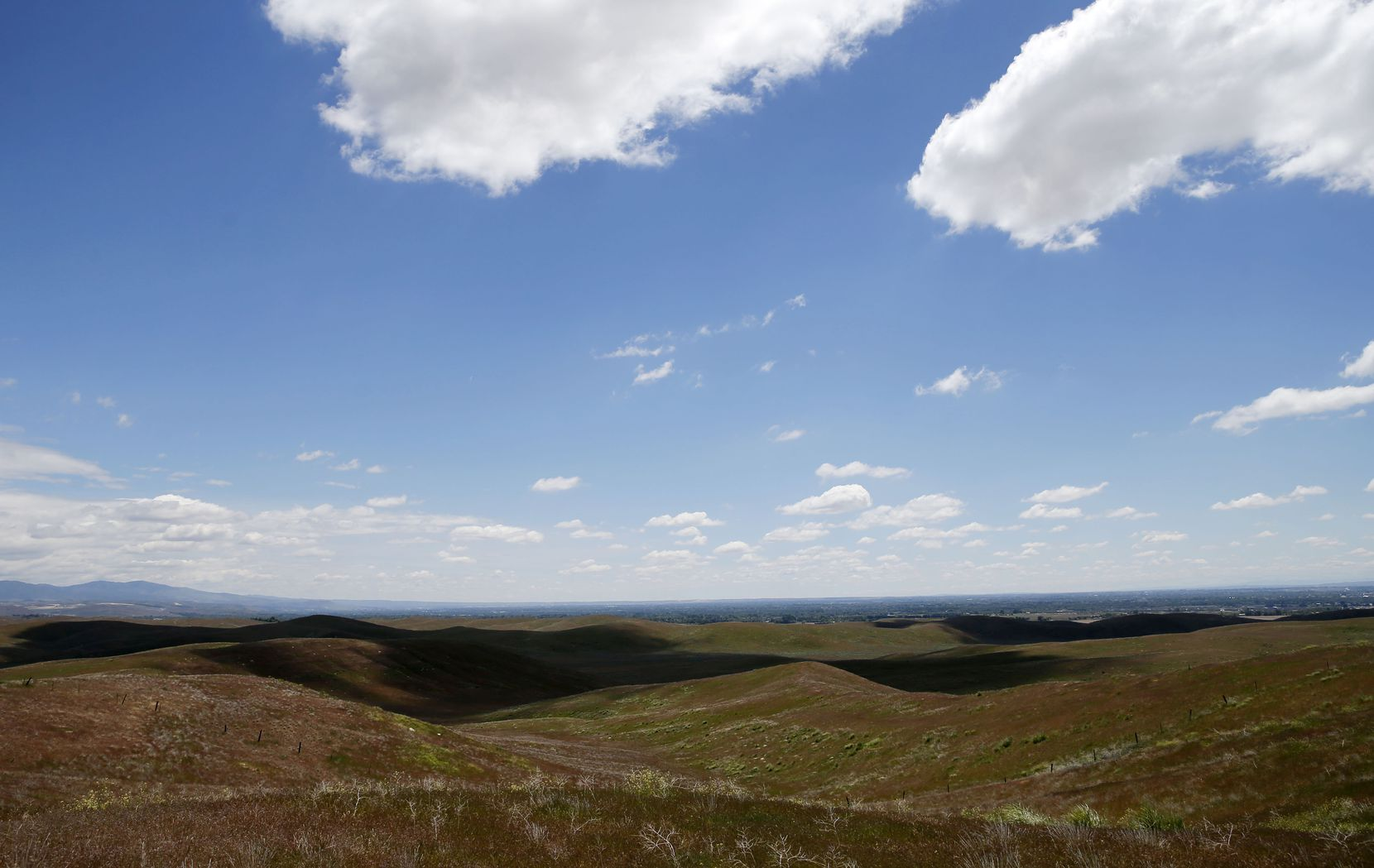 Some of the thousands of acres of land that the Dallas police and fire pension bought outside Boise, Idaho. (Vernon Bryant/Staff photographer)