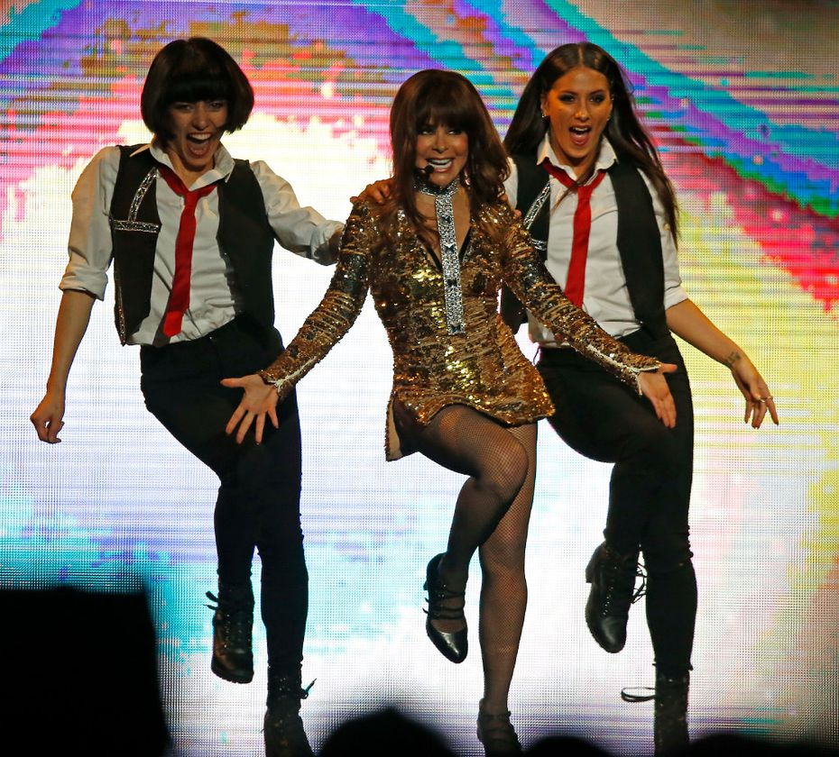 """Paula Abdul sang and danced her chart-topping hits, including """"Straight Up"""" and """"Opposites Attract."""""""