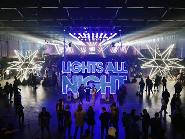 The Lights All Night festival at the Dallas Market Hall, Friday, Dec. 28, 2018.