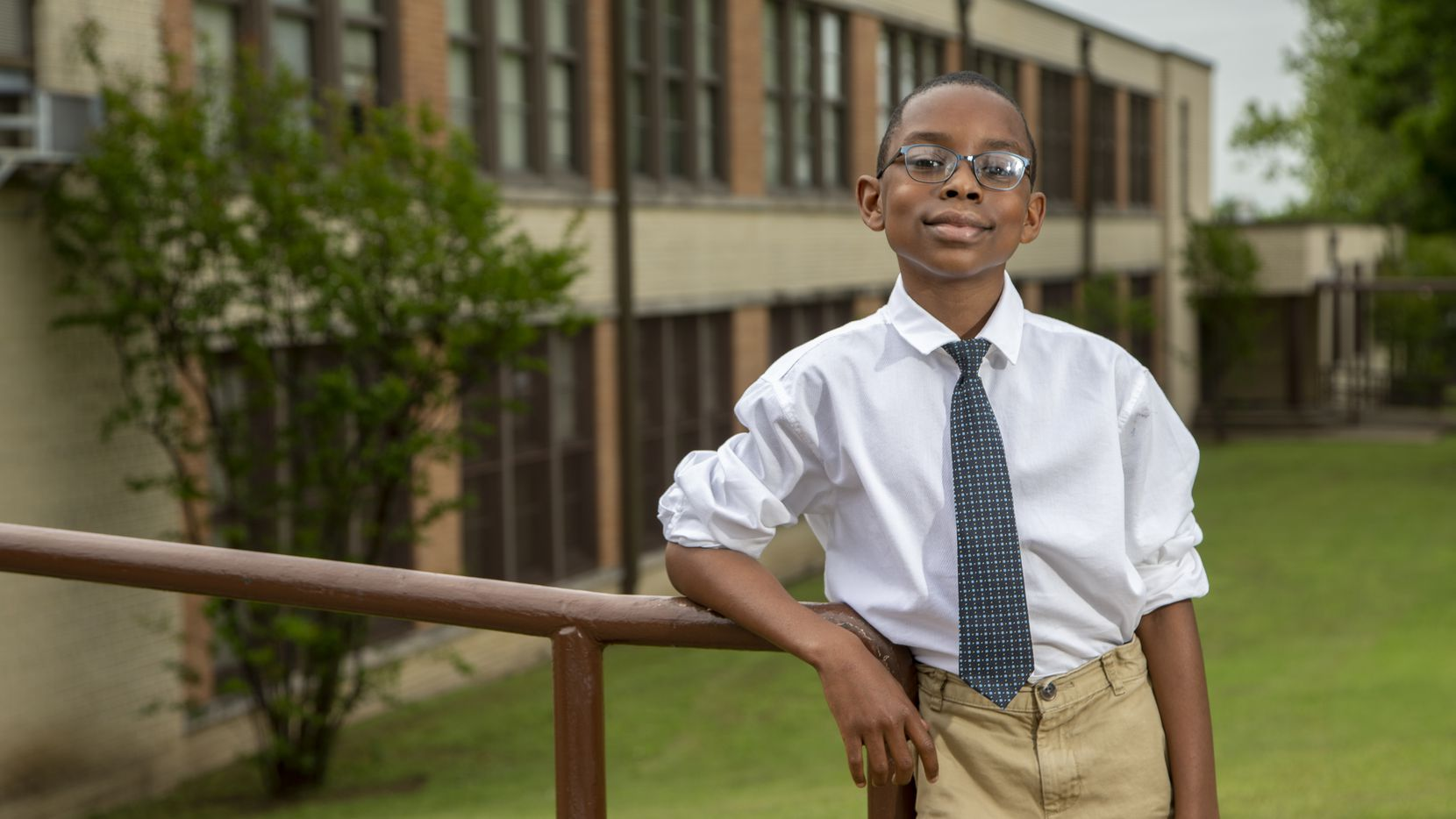 Elijah Robertson, a fifth-grader at Clara Oliver Elementary School in Dallas, has written three adventure fiction novels for his school library, and he's just getting started.