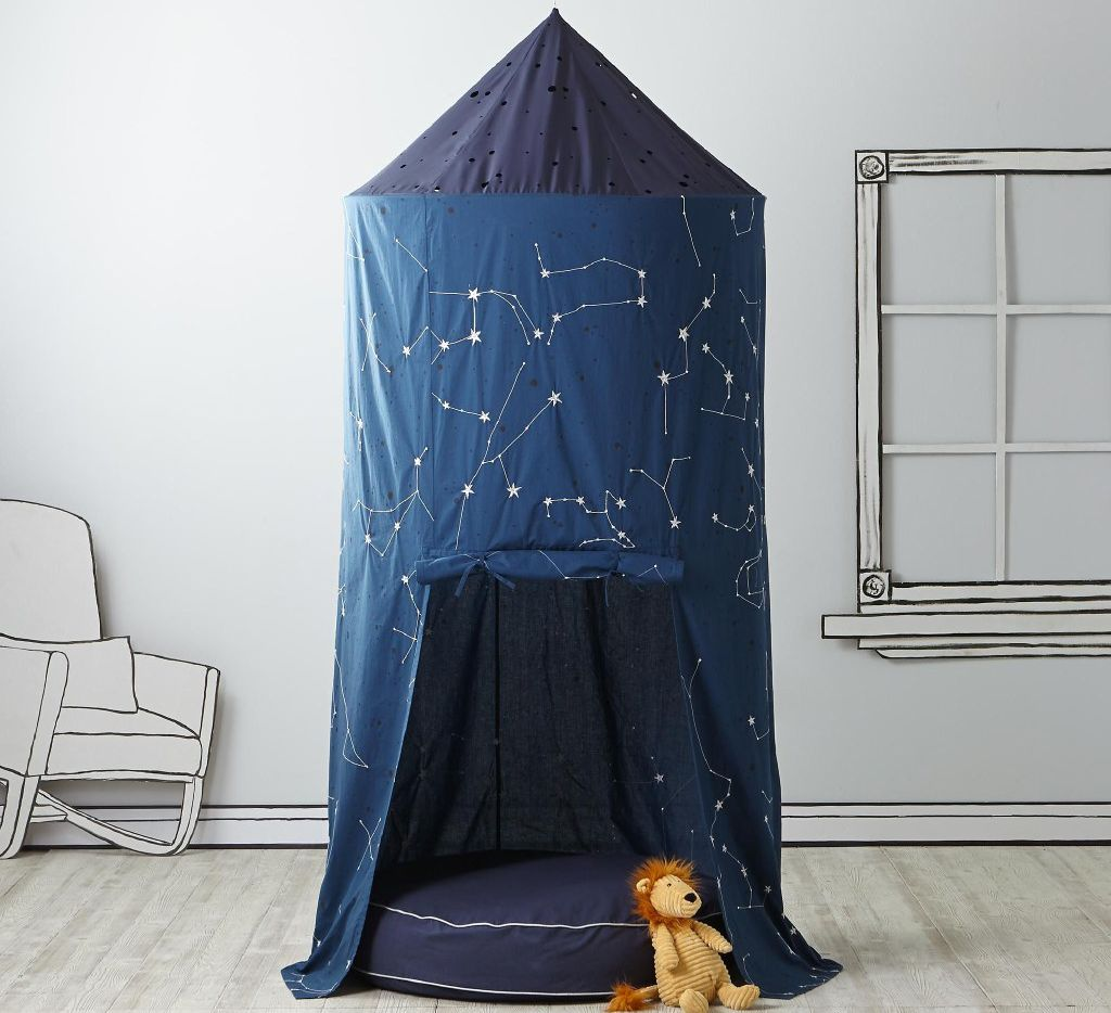 Planetarium Playhouse Canopy & Cushion Set, $258, landofnod.com
