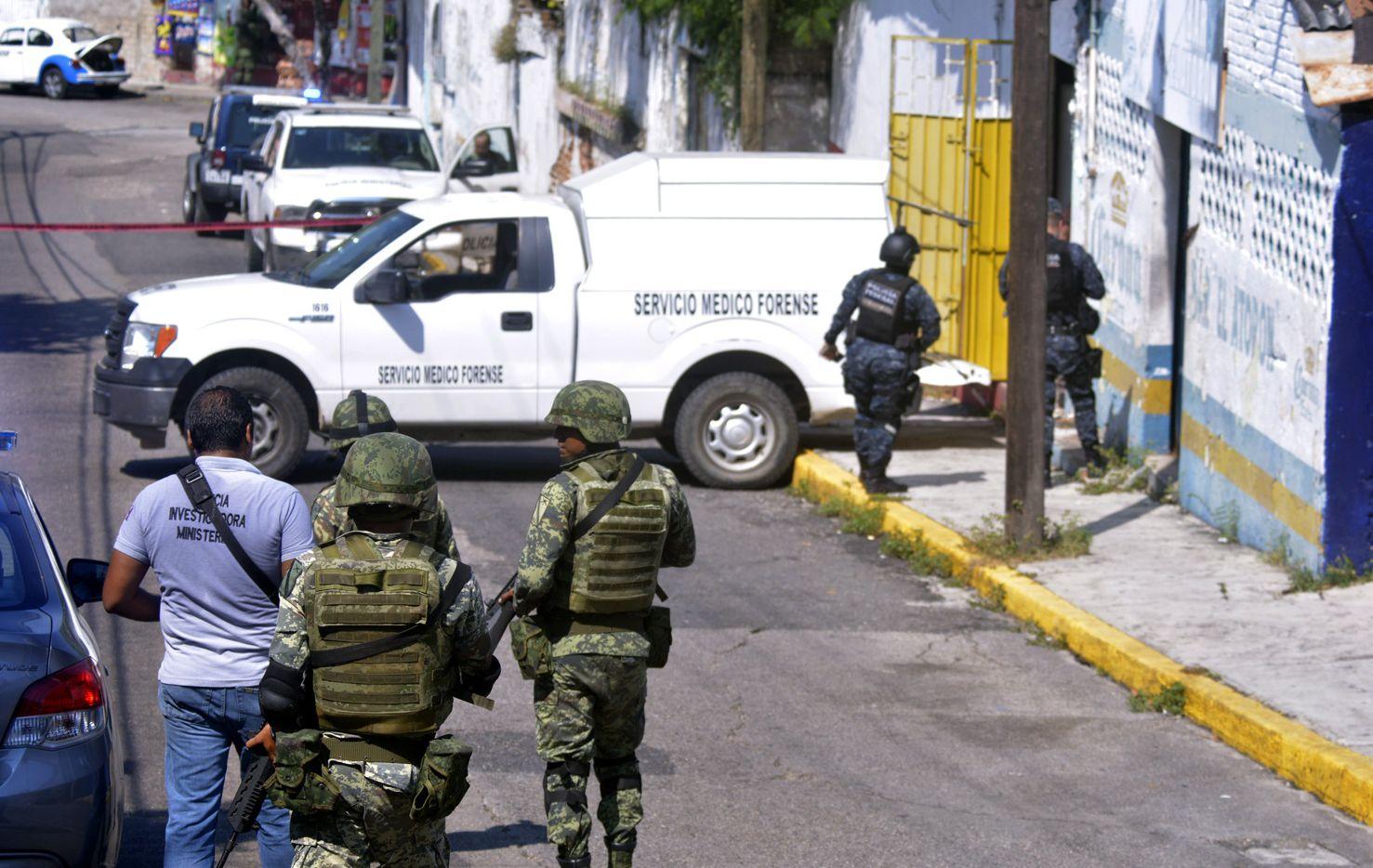 un operativo para resolver un asesinato en Acapulco, México. AGENCIA REFORMA