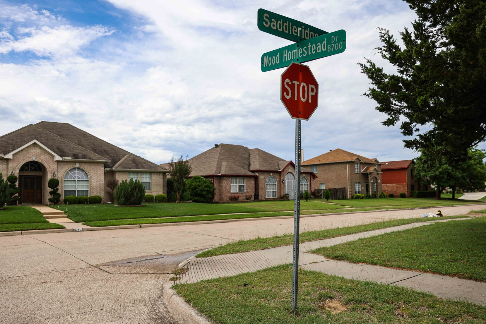 The street where the dead body of a 4-year-old boy was found last Saturday morning in Dallas on Monday, May 17, 2021.