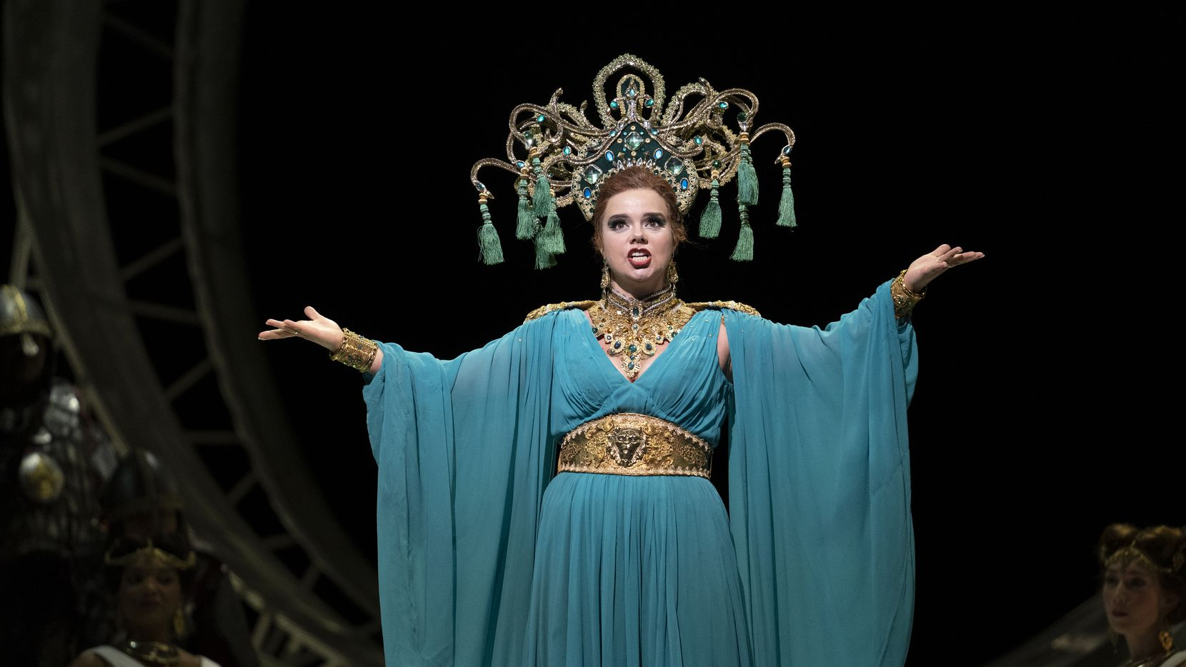 Olga Pudova performs as the Queen of Shemakha during dress rehearsal of the Dallas Opera's production of 'The Golden Cockerel' on Oct. 22, 2019 at the Winspear Opera House.