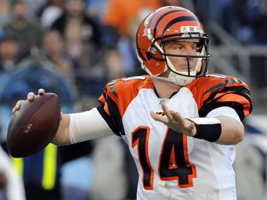 Cincinnati Bengals rookie quarterback Andy Dalton has led the Bengals to a 6-2 record, thanks to steady play. The former TCU star has a passer rarting of 85.0, with 1,696 yards passing, 12 touchdowns and seven interceptions.