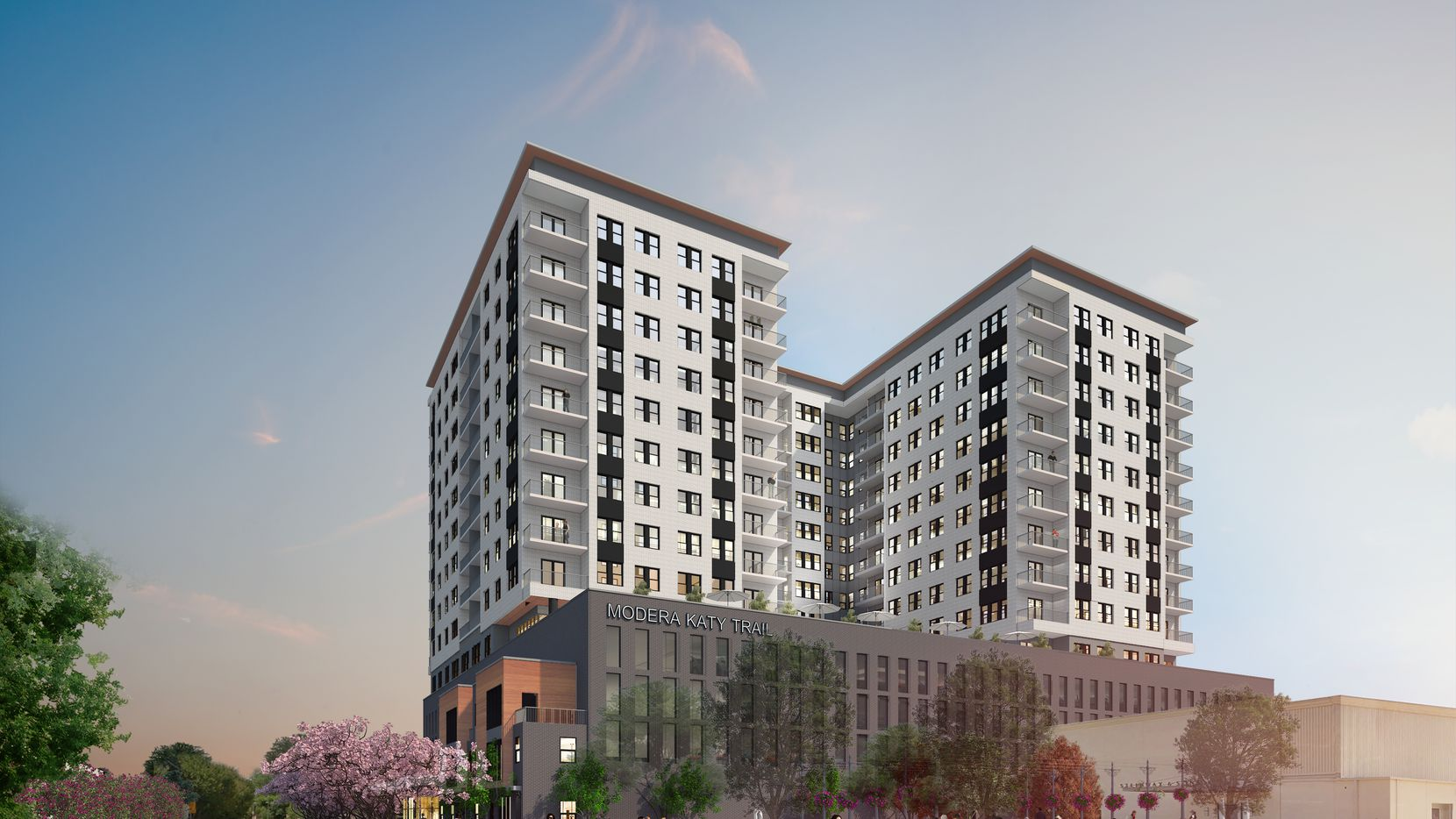 The Modera Katy Trail apartments will be constructed on U.S. 75 just south of Mockingbird Lane.
