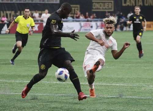 Josef Martinez igualó a Roy Lassiter (1996), Chris Wondolowski (2012) y Bradley Wright-Phillips (2014) por la marca de más goles en una temporada en la MLS. (Curtis Compton/Atlanta Journal-Constitution via AP)