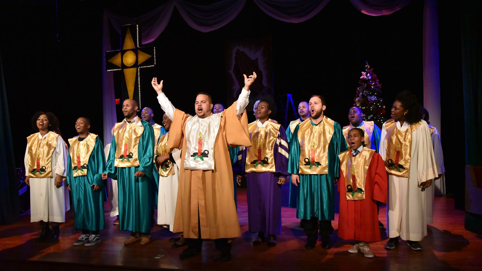 The full company of 'Black Nativity,' presented by Bishop Arts Theatre Center Dec. 6-23, 2018. Photo supplied by Bishop Arts Theatre Center.