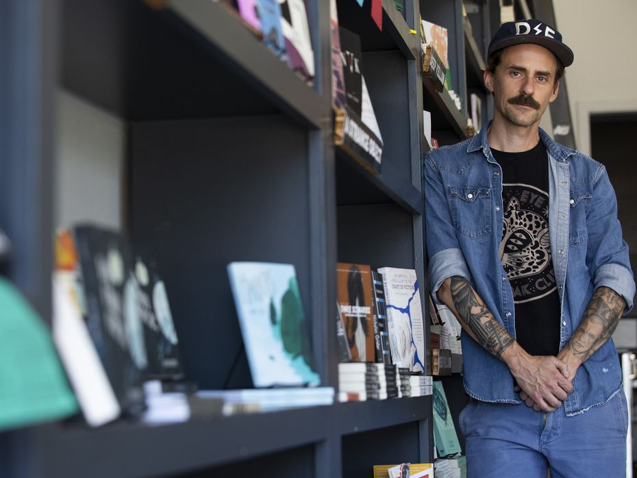 Will Evans, founder of Deep Vellum Publishing, poses for a photo at Deep Vellum Books in 2019.