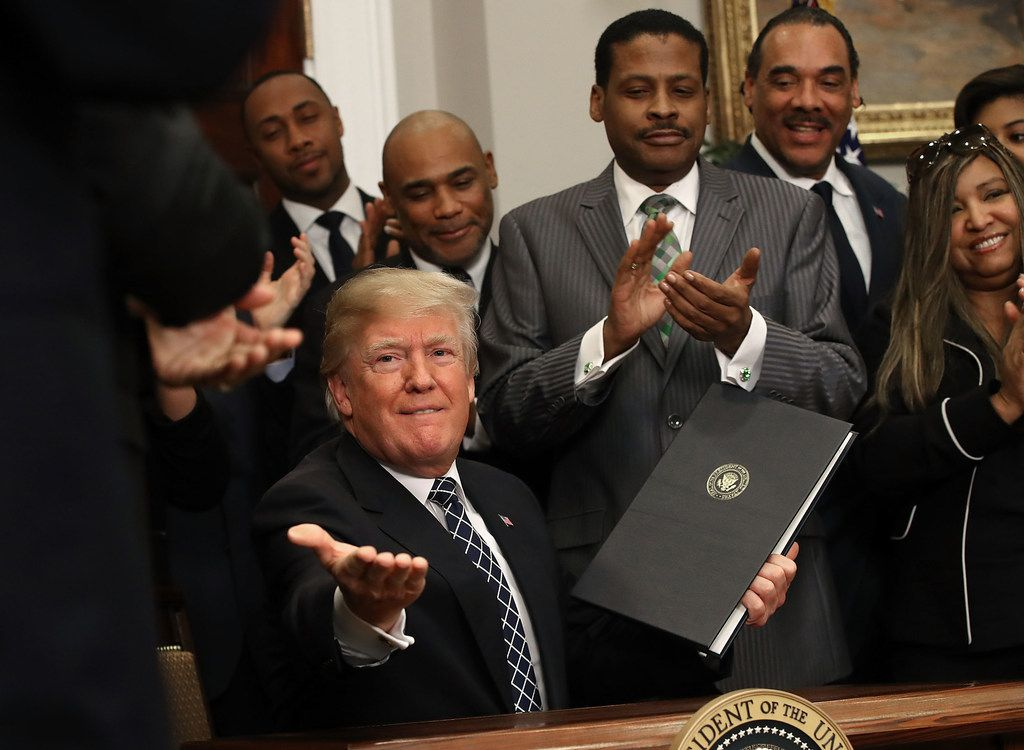 President Donald Trump after signing a proclamation to honor Martin Luther King Jr. in the Roosevelt Room at the White House on Jan. 12, 2018.