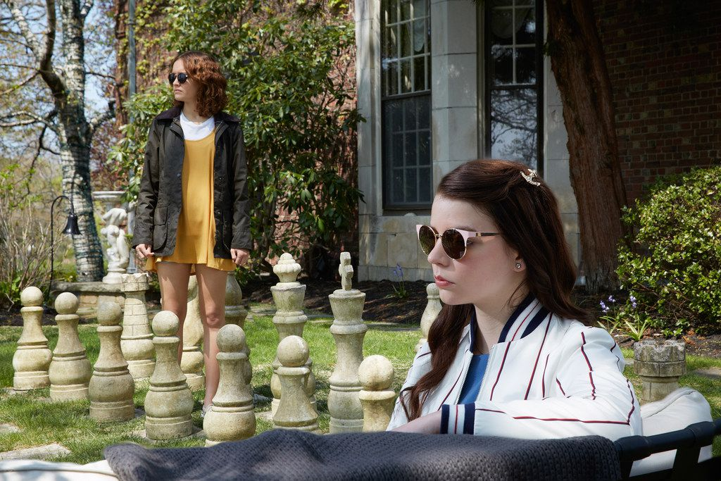 Olivia Cooke stars as Amanda and Anya Taylor-Joy as Lily in THOROUGHBREDS, a Focus Features release.