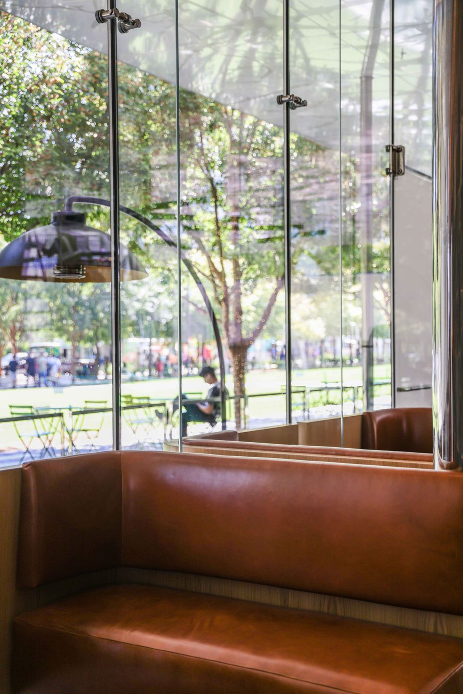 When Mi Cocina opens Oct. 18, 2021, it'll sell food and alcohol that can be taken to-go, for picnics in Klyde Warren Park.