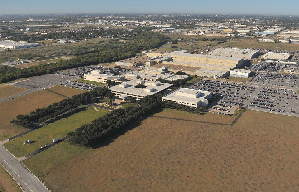 The sprawling seven-building campus that makes up Lockheed Martin's Missiles and Fire Control facility in Grand Prairie.