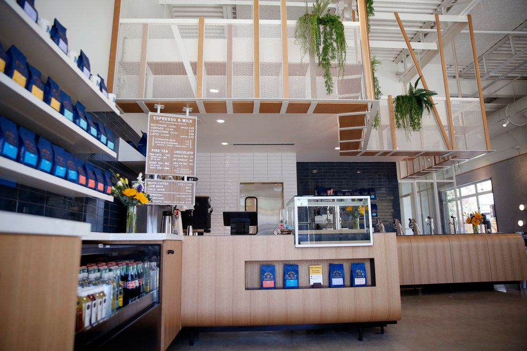 Interior at Merit Coffee in Deep Ellum in Dallas on Monday, March 25, 2019. (Rose Baca/Staff Photographer)