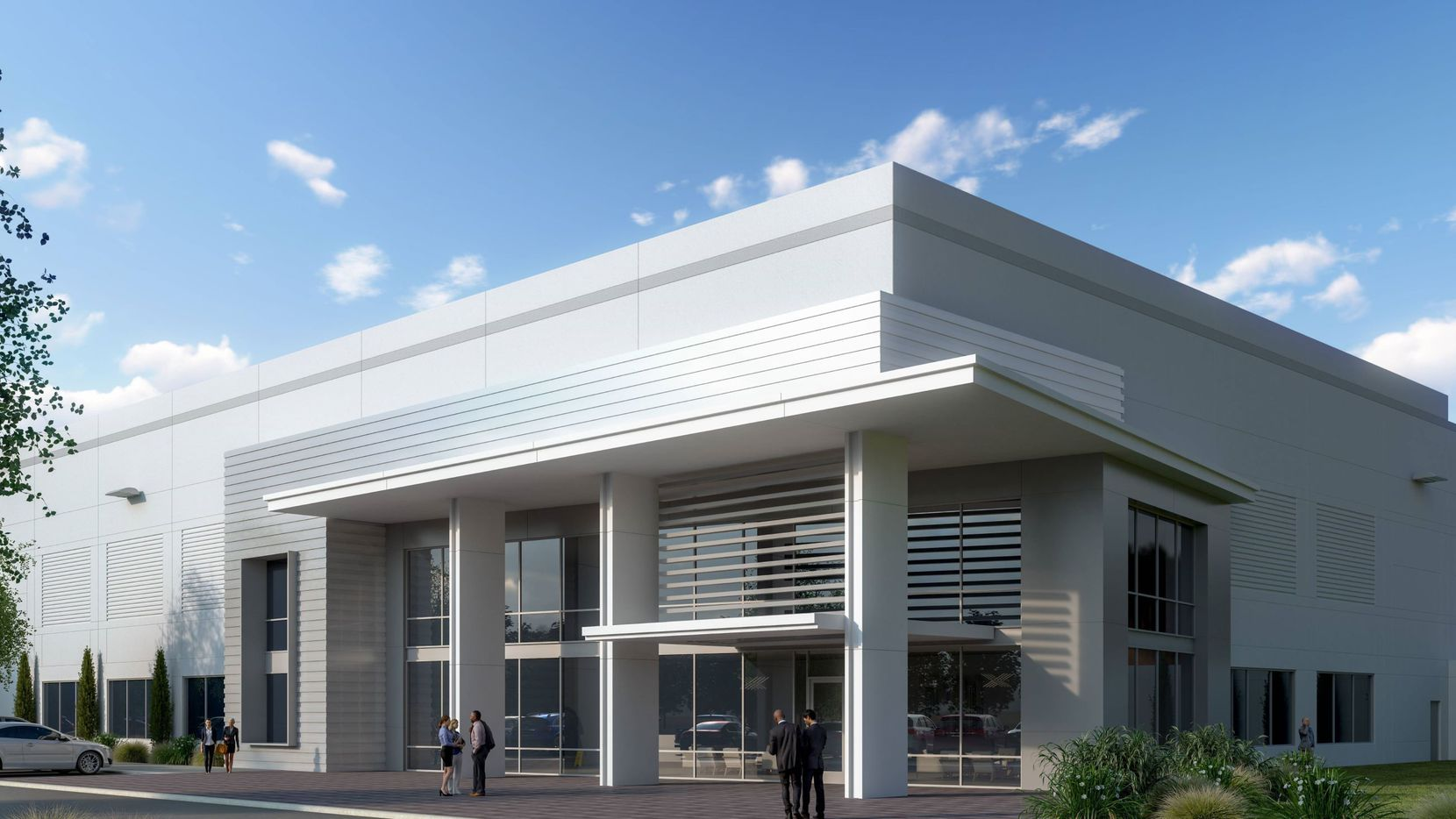 The Alliance Center North buildings are planned near Interstate 35W.