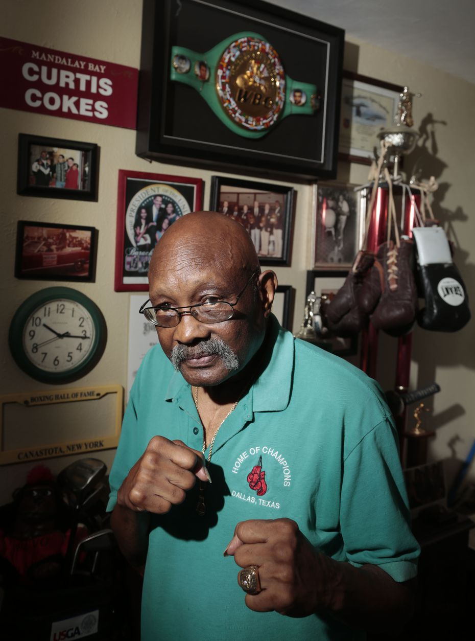 Curtis Cokes. 76, as former boxing champion from Dallas, Texas, pictured at his home on June 04,  2013. (Michael Ainsworth/The Dallas Morning News)