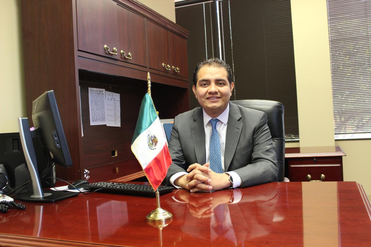Andrés Galván Sandoval es el nuevo cónsul de asuntos comunitarios en del Consulado General de México en Dallas.(CORTESÍA)