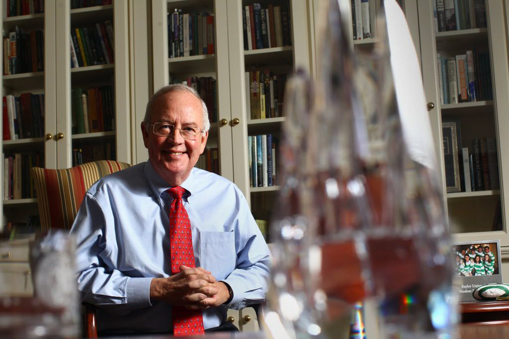 Ken Starr is shown in his office during his tenure as Baylor's president. (2010 File Photo/Staff)