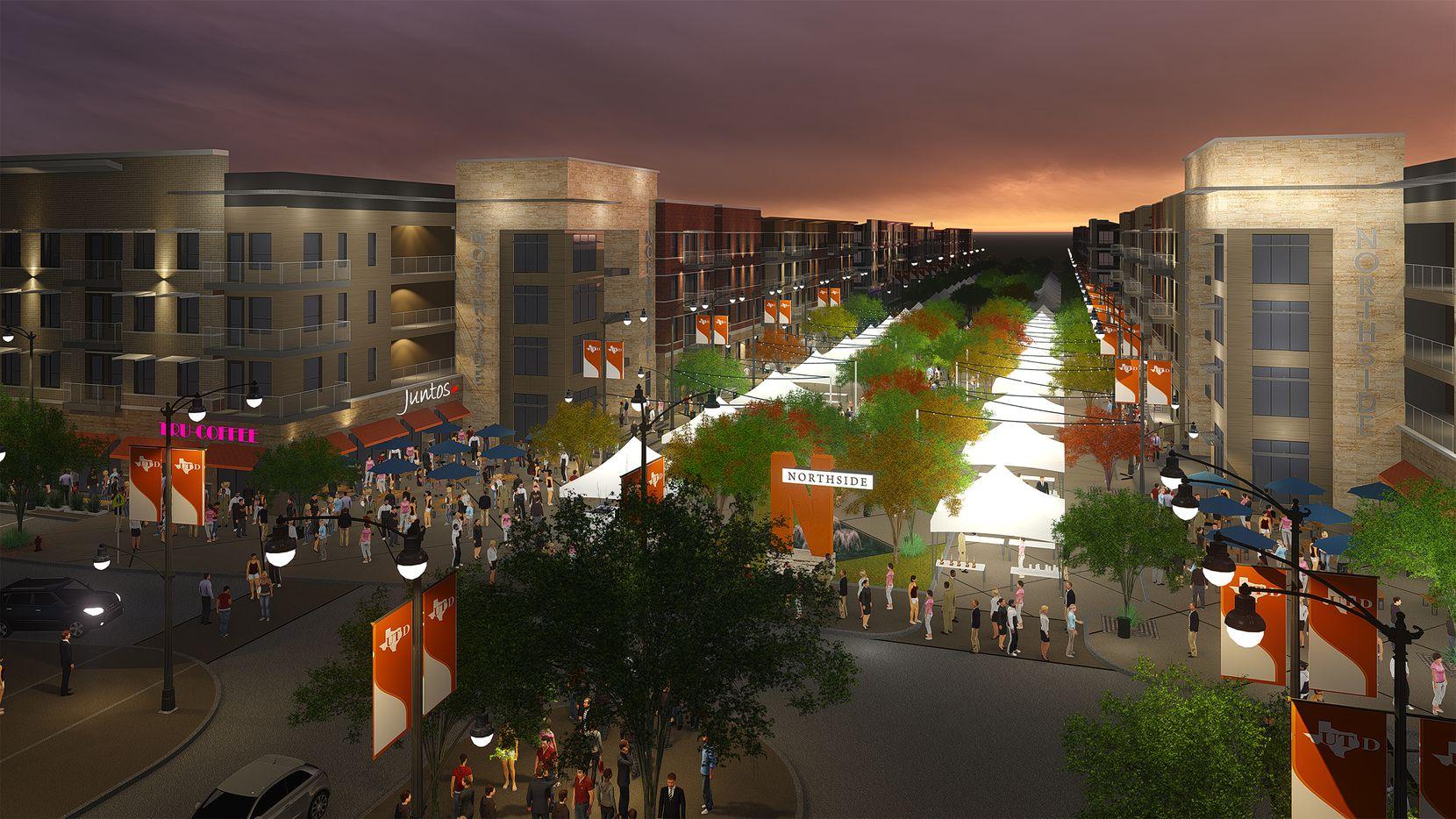 The first phase of UTD's Northside development opened last summer.