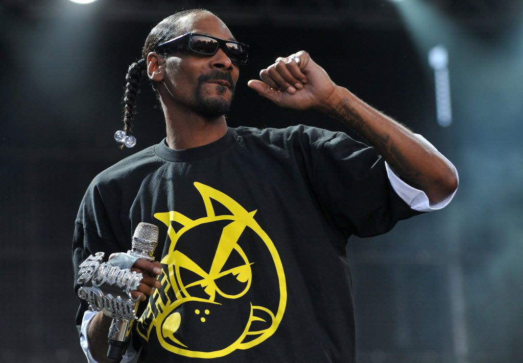 Hip-hop artist Snoop Dogg performs on stage at the Balaton Sound festival in Zamardi, Hungary, in 2015.