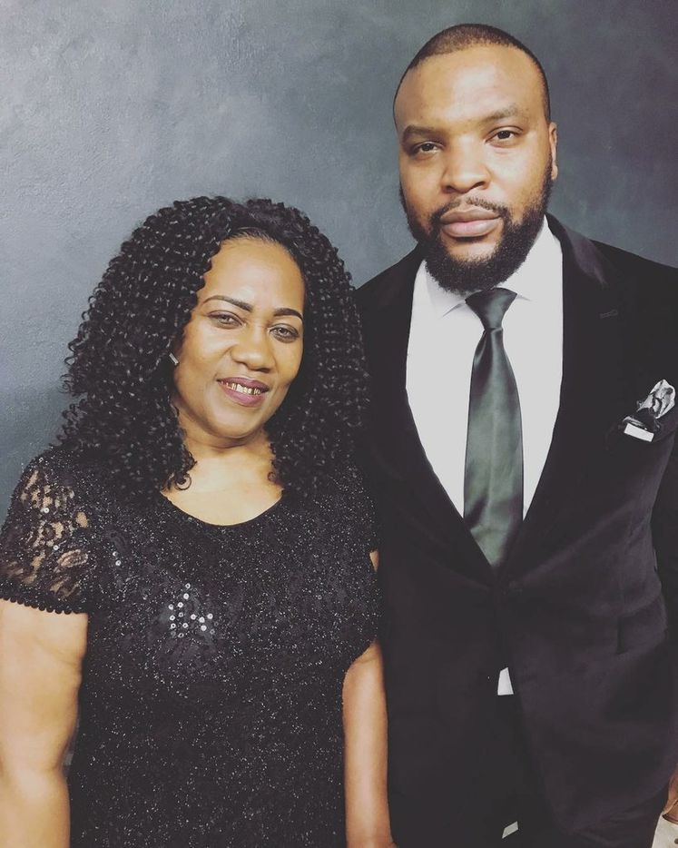 Lee Merritt with the mother of Alton Sterling, whose death at the hands of Baton Rouge police caused nationwide protests. (Courtesy of Lee Merritt)