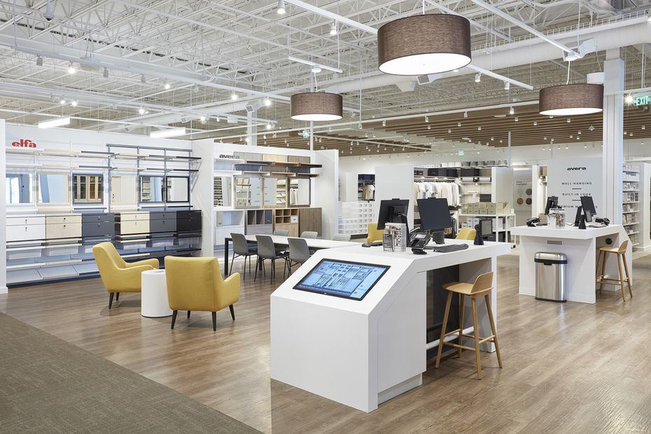 The Container Store Custom Closets store relocated from Alpha Road just north of Galleria Dallas to around the corner at 13710 Dallas Pkwy. It opened Wednesday, Dec. 18, 2019.