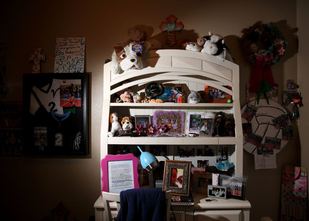 Hanna Clark's bedroom has been left the way it was the day she died.