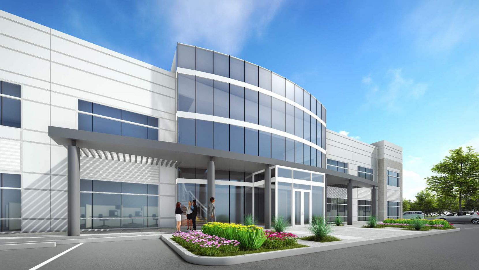 A rendering of the Caris Life Sciences corporate park.
