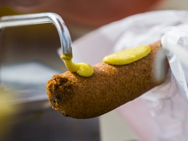 "The ""right"" way to eat a Fletcher's corny dog at the State Fair of Texas is with mustard, not ketchup. But this year, there were no rules."