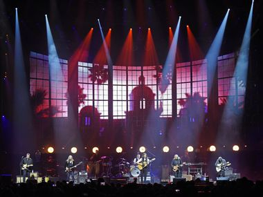 American rock band the Eagles performs at the American Airlines Center in Dallas, Saturday night Feb. 29, 2020.