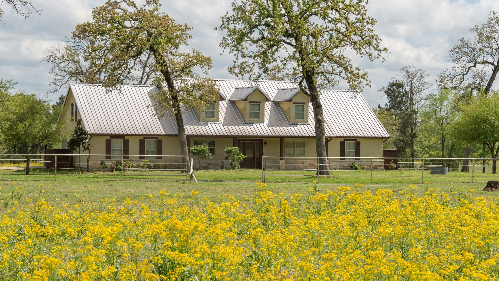 The Champion Ranch includes a main house, bunk house and other barns and cabins.