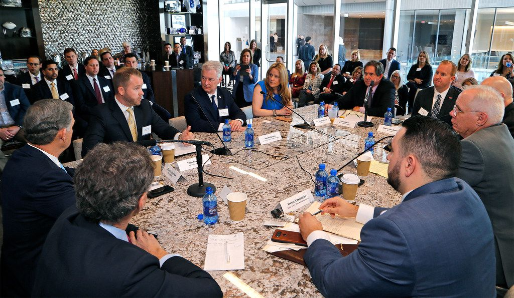 The Frisco Chamber of Commerce hosted a roundtable discussion on responsible growth for the city on Thursday at The Star in Frisco.