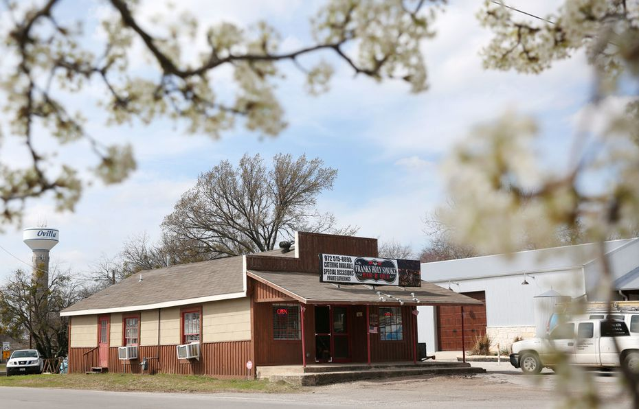A.D. Franks Holy Smoke Bar-B-Que is located in Ovilla, about 25 miles south of Dallas.