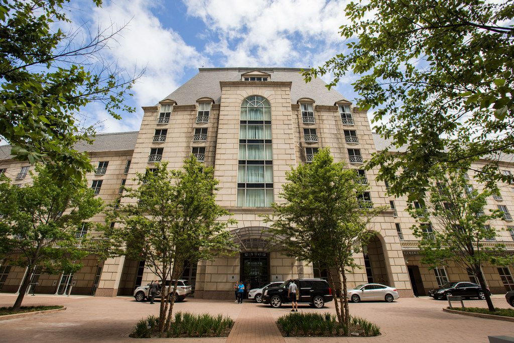 The front entrance of Hotel Crescent Court in Dallas on Monday, June 18, 2018. The hotel was recently renovated. (Ashley Landis/The Dallas Morning News)