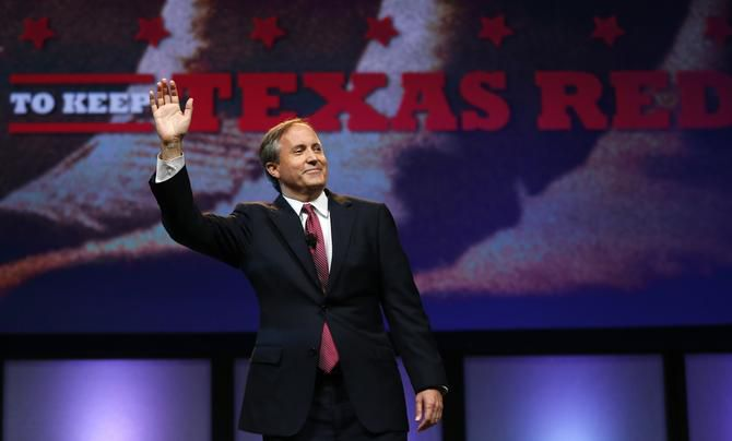 Texas Attorney General Ken Paxton, shown here at a past Texas Republican Convention in Fort Worth, was indicted for securities fraud in summer 2015. The cases against him were originally set in Collin County, where the alleged crimes took place. But they were later moved to Harris County after concerns a jury would be partial to Paxton, who lived in McKinney. Paxton asked for the cases to be moved back and the Harris County judge presiding over his case granted his request.