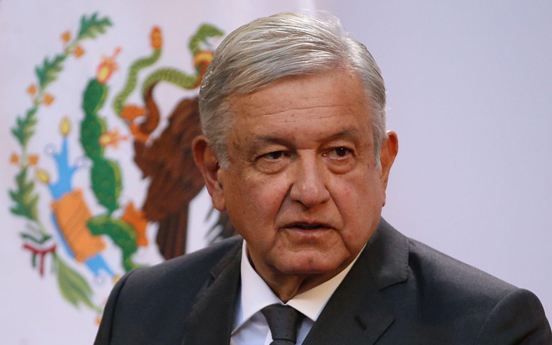 El presidente mexicano Andrés Manuel López Obrador encabeza la ceremonia el martes 1 de diciembre de 2020 por el segundo año de su gobierno, en el Palacio Nacional de la Ciudad de México.