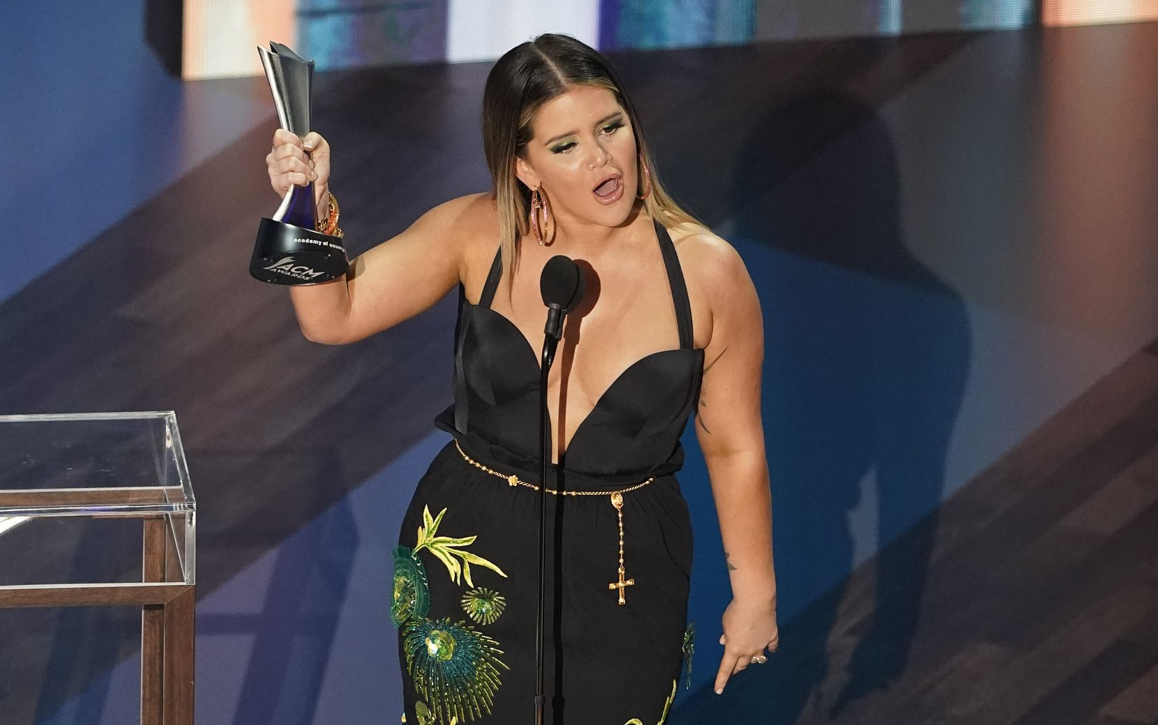 Maren Morris won two awards, including female artist of the year and music event of the year, for a collaboration with Miranda Lambert, Caylee Hammack, Tenille Townes, Elle King and Ashley McBryde.