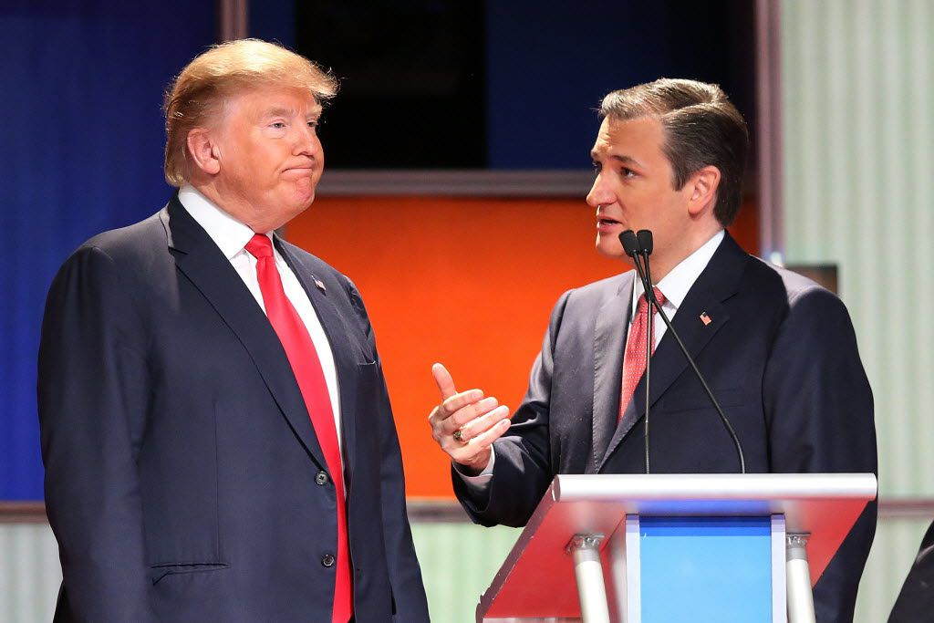 Don't expect a scene like this in coming months. It's not in Ted Cruz's political interest to back Donald Trump. (Scott Olson/Getty Images)