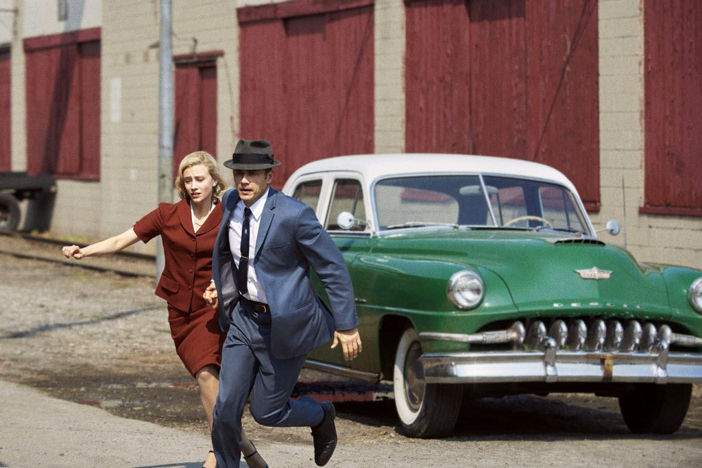 Sarah Gadon and James Franco as they appear in 11.22.63,  the Hulu adaptation of Stephen King's novel.