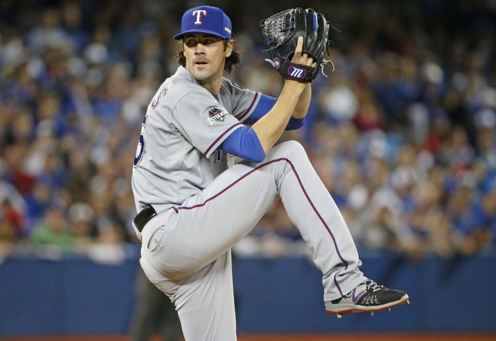 Texas Rangers starting pitcher Cole Hamels (35) is pictured during Game 5 of the ALDS between the Texas Rangers and the Toronto Blue Jays at Rogers Centre in Toronto, Canada on Wednesday, October 14, 2015. (Louis DeLuca/The Dallas Morning News)