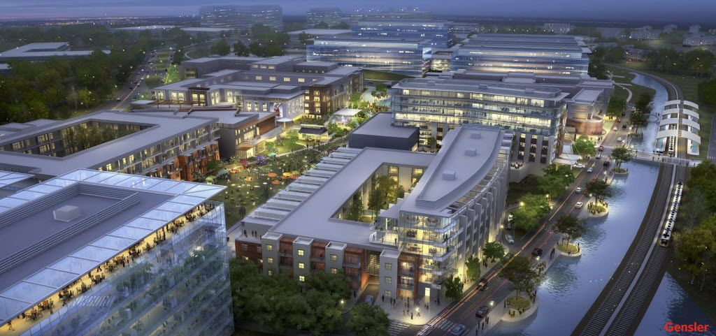 Pioneer Natural Resources is planning a 750,000-square-foot office campus in the $1 billion Hidden Ridge development in Irving.